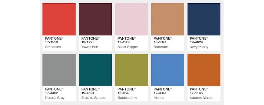 Los Colores de Moda para el otoño invierno 2017-18