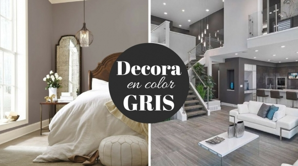 Decora tu casa en color gris