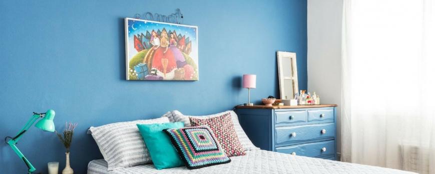 Color azul para pintar las paredes de casa
