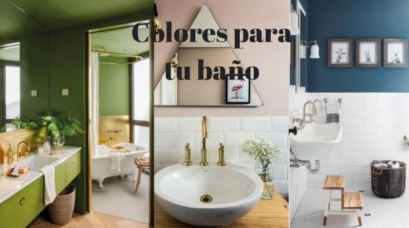 Paleta de colores para pintar el baño